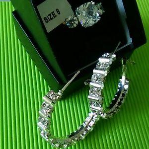Wow ring Gorgeous size 8'cz gp 18k